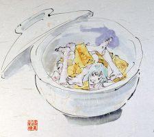 Aida Makoto, series of Edible Artificial Girls, Mi-Mi Chan, 2001