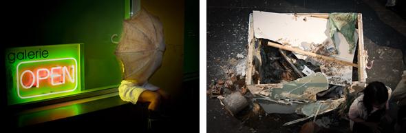 Performance Allison Fall & Madeline Stillwell at galerie OPEN