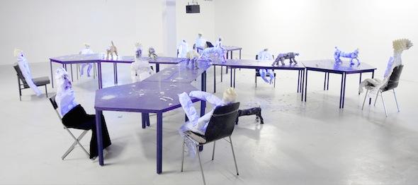 """Berlin Art Link Interview with Tjorg Douglas Beer, """"Diamonds & Bones"""", nstallation view, Kunstraum Insbruck, 2009 VG Bildkunst Bonn, Tjorg Douglas Beer 2010; courtesy Produzentengalerie Hamburg"""