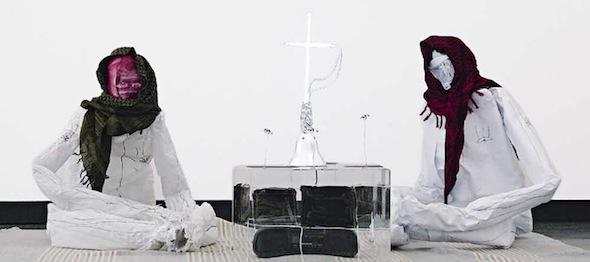 "Berlin Art Link Interview, Tjorg Douglas Beer - ""Maneuvre-Grill"", Installation detail Narkose #02, Stadtsgalerij Heerlen, 2009 VG Bildkunst Bonn, Tjorg Douglas Beer 2010; courtesy Produzentengalerie Hamburg"