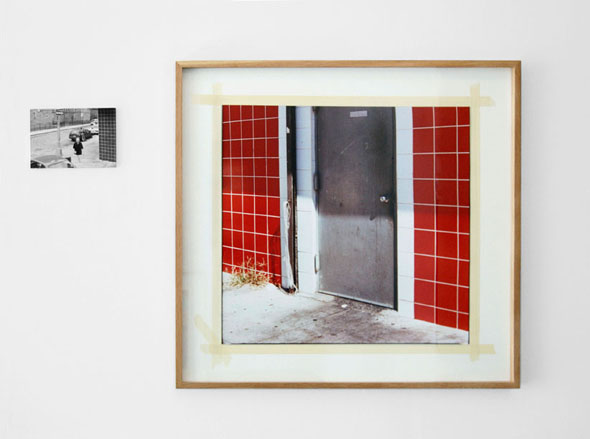 World of Details (exit + snackbar), 2011, c-print, object frame, 98 x 104 cm, ink jet print on mdf-plate, 18 x 26 cm, edition 3+1 a.p.