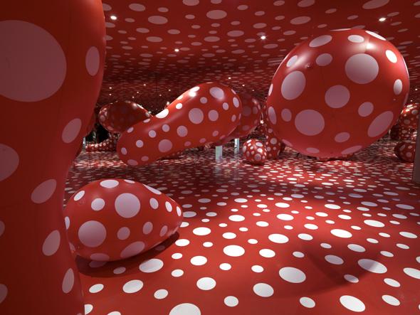 Yayoi Kusama, Exhibition view, Centre Pompidou, photograph courtesy of P. Migeat, 2011
