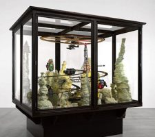 "Zhivago Duncan - ""Pretentious Crap"" (2010-2011); Wood, glass, mixed media; 300 x 307 x 250 cm; Image courtesy of the Saatchi Gallery, London © Zhivago Duncan, 2011"