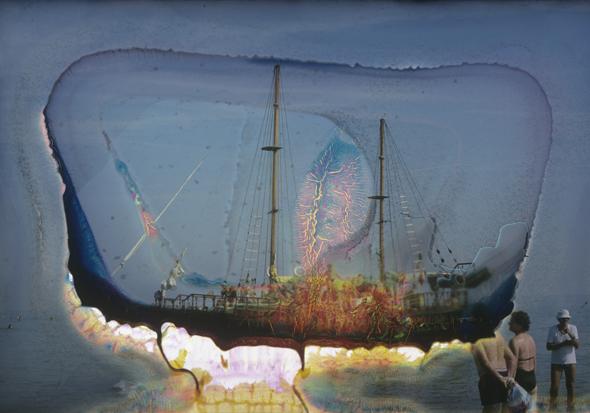 """Wolfgang Ganter: """"Acension"""", 164x260 cm"""