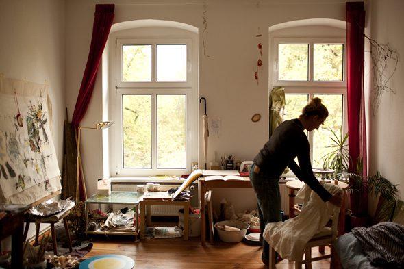 Berlin Art Link studio visit with Allison Fall
