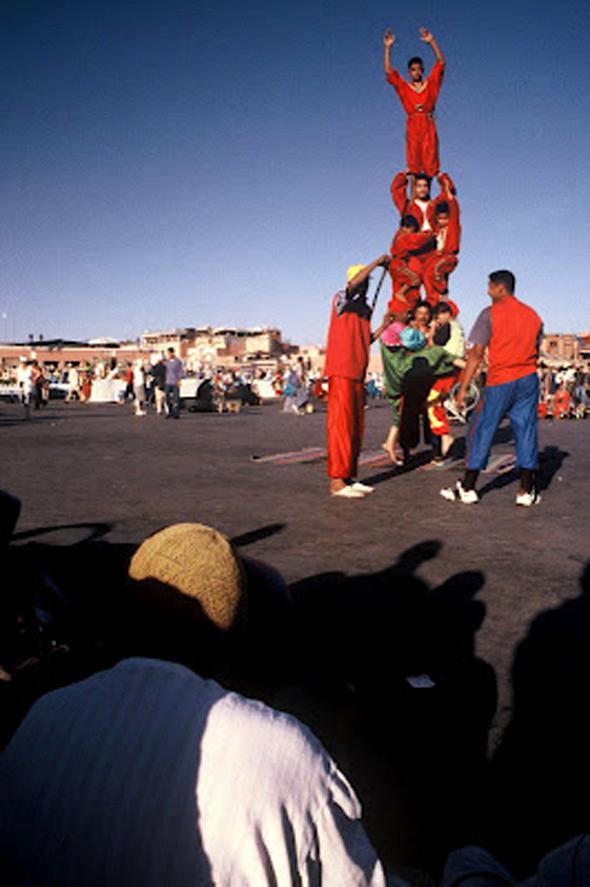 Acrobats in Djemaa el Fnaa
