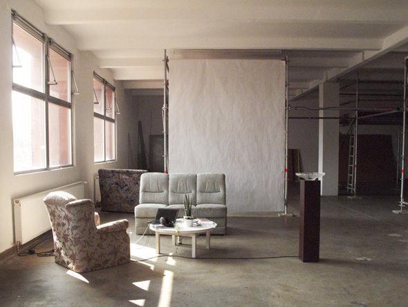 Post-Studio Tales, reception area, unoccupied, photo: Jessyca Hutchens