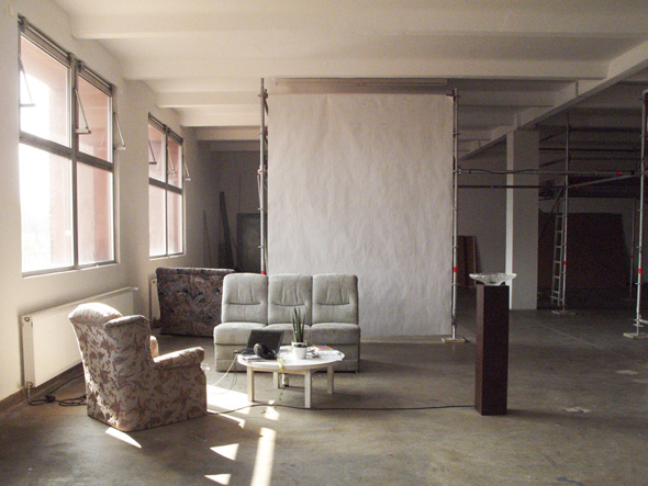Post-Studio Tales, reception area, unoccupied, photo: Jessyca Hutchens