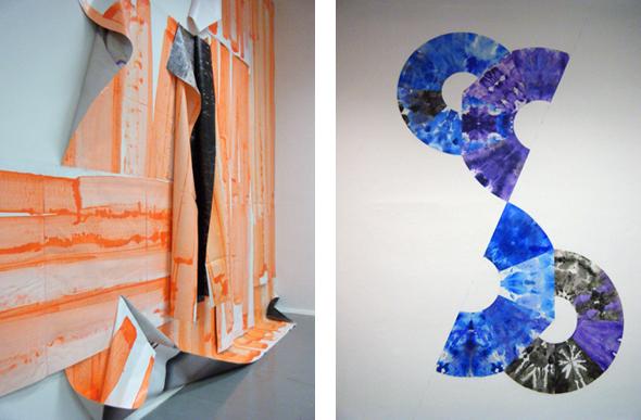 """Franziska Hünig - """"Ohne Titel"""" (2012) and Geka Heinke - """"Kreise aufsteigend"""" (2012)"""