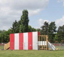 """raumlaborberlin: """"Die Grosse Weltausstellung: The World Is Not Fair"""", pavilion in progress"""