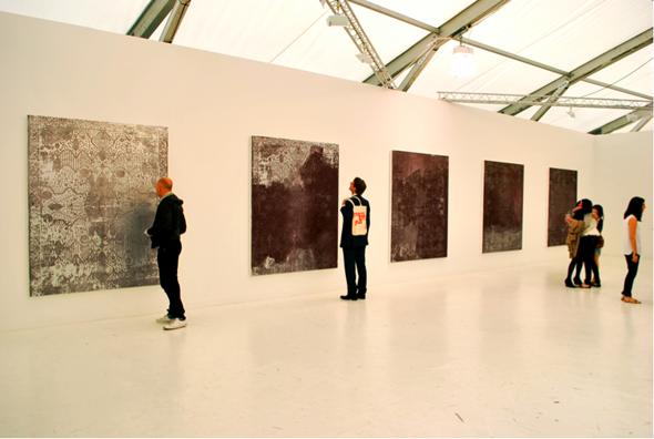 Rudolf Stingel at Gagosian Gallery