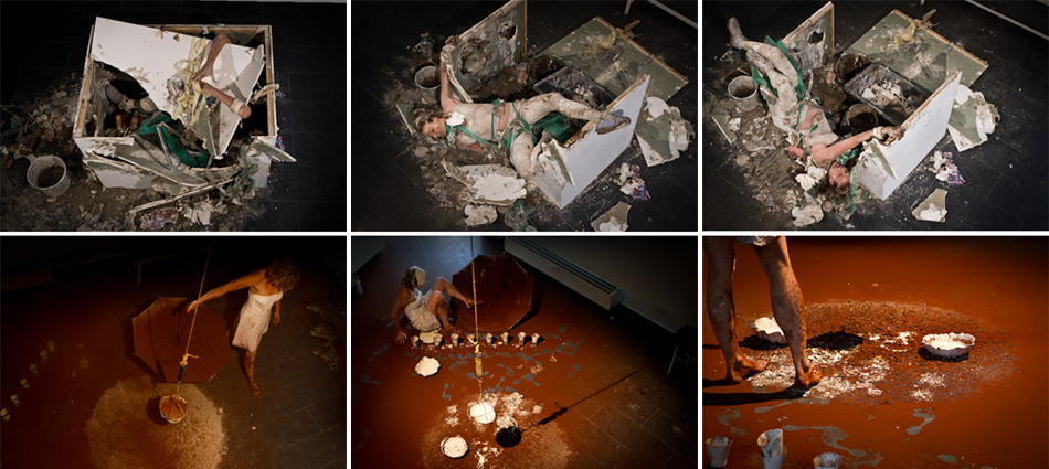ANTINOMIES: GEGENSÄTZE. A Live Performance Series by Allison Fall and Madeline Stillwell