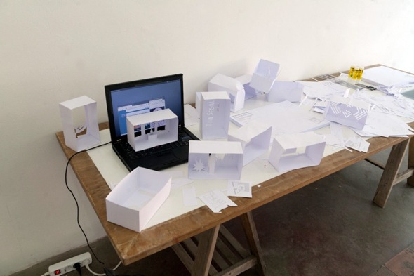 "Aram Bartholl - ""Online Gallery Playset"" (2012); photo: Chloé Richard"