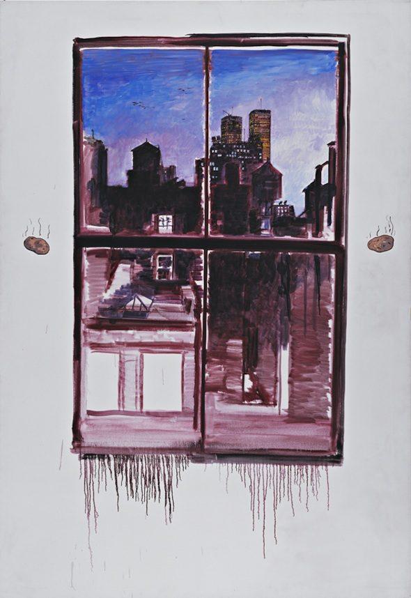 "Paul Thek - ""Untitled"" (Sodom & Gomorrha with Hot Potatoes) (1970-71), Acrylic on canvas, 244.5x167 cm, Deichtorhallen Hamburg / Falckenberg Collection. Photo courtesy Luc Tuymans and Galerie Isabella Czarnowska, Berlin."