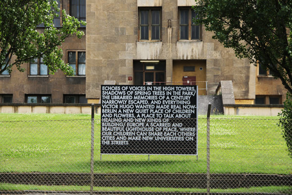 Robert Montgomery, Echos of Voices, Berlin 2012