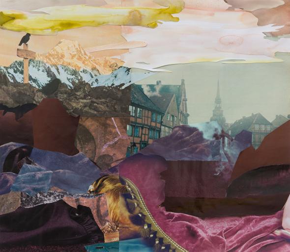 "Michelle Jezierski - ""REMAINING"" (2012), collage, 40 x 46 cm"