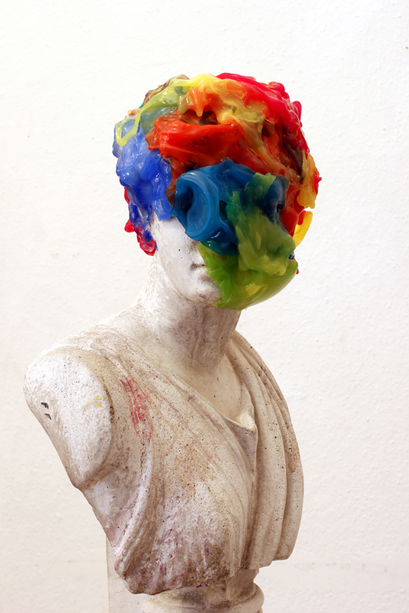 "Shintaro Yamakawa - ""Blown Bust"" (2012); Sculpture made during HomeBase BUILD Residency"