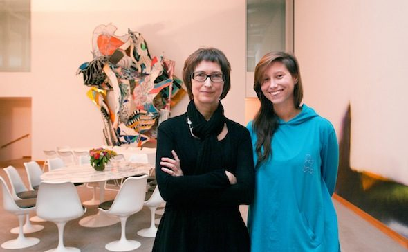 Susan Janin with daughter | Hoffmann Kunst Salon, hosted by MOMENTUM