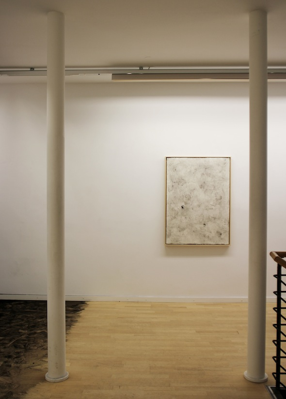 "Brice Guilbert, ""Fantôme / Levier / Obstacle,"" dust on paper, 2012; photo by Brice Guilbert"