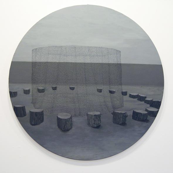 "Grayson Cox - ""Circle"" (2009), enamel and acrylic on panel"