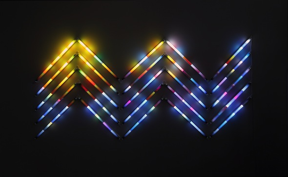 """James Clar - """"Waves (with sunset)"""", part of """"The Iris Was a Pupil"""" exhibition at Carbon 12 Gallery"""