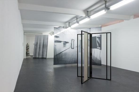 Installation view at DUVE Berlin. Iris Touliatou, *Imposed Loads and Other Masked Appearances* (2012), courtesy of DUVE Berlin