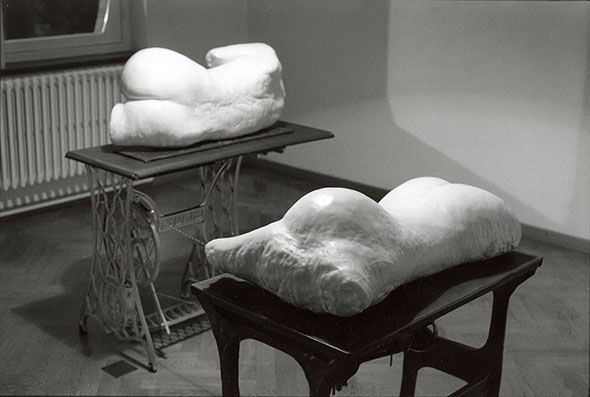 "J.Van Oost - ""Untitled"" (1997), plaster, wax, lead, iron"