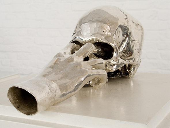 "Jan Van Oost - ""Salome"" (1990), Cast silver, 35 x 13 x 15 cm"