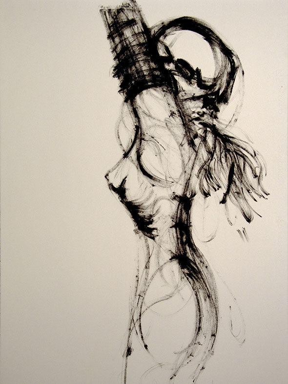 "Jan Van Oost - ""Untitled"" (2004), oil stick on paper"