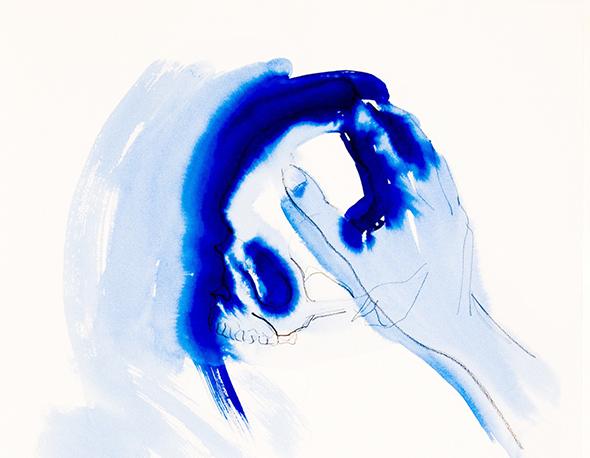 """Jan Van Oost -  """"Salomé""""  (1991), watercolour on paper"""