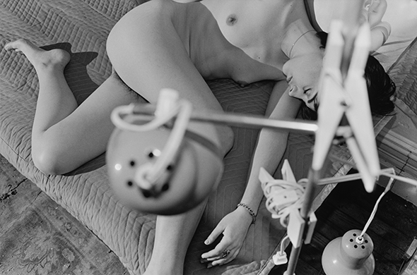 "Lee Friedlander - ""Nude"" (1983), gelatin silver print, 12 1/4 x 18 1/8 inches; © Lee Friedlander, Pace Gallery, New York and Fraenkel Gallery, San Francisco"