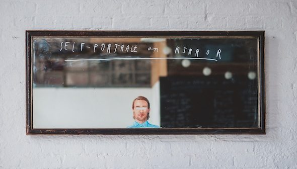 "Oliver Jeffers - ""Self Portrait On Mirror"" (2012); Courtesy of Gestalten"