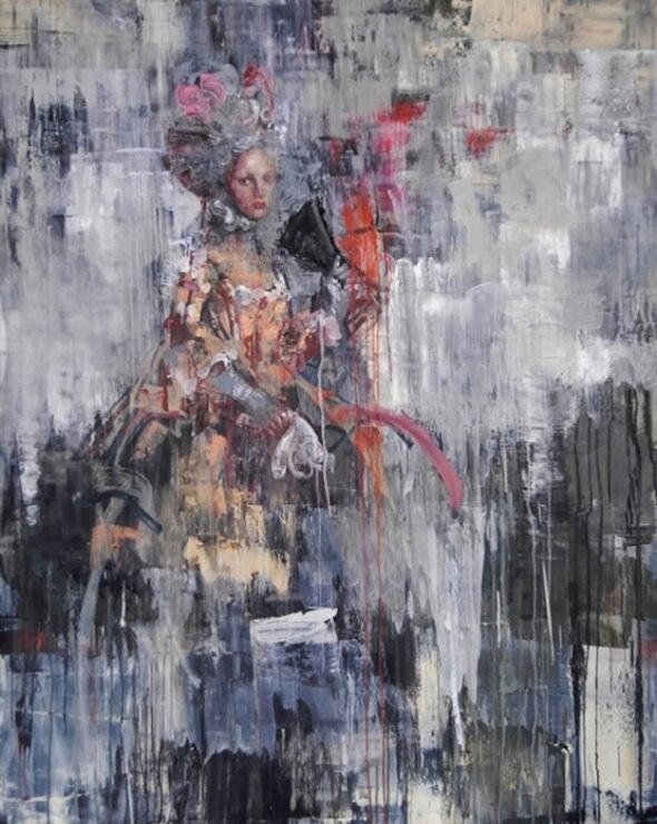 'Elegant life' (2011), Oil on canvas, 152.4 x 122 cm, Courtesy of Rimi Yang