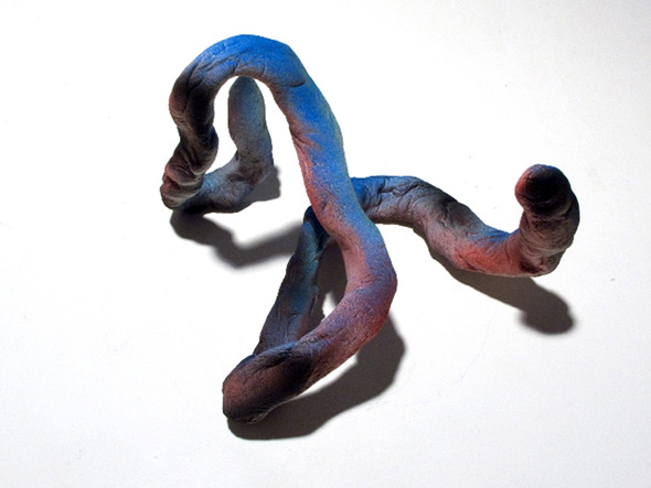"Katharina Fengler - ""Unused Potential V"" (2012), aluminum wire, salt dough, acrylic and drawing ink, 10,5 x 16 x 13,5 cm"