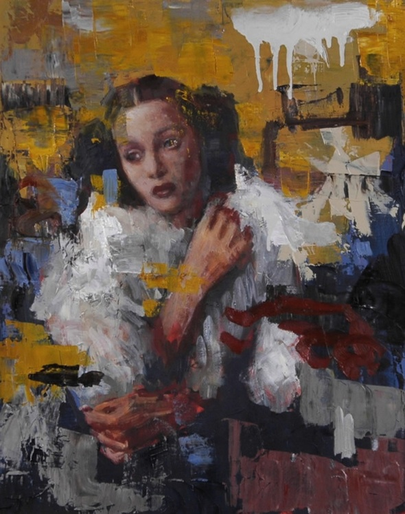 'Ms. Hollywood' (2011), Oil on canvas, 50.8 x 40.7 cm,  Courtesy of Rimi Yang