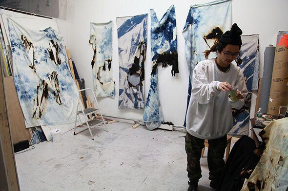 Berlin Art Link Studio Visit with Korakrit Arunanondchai
