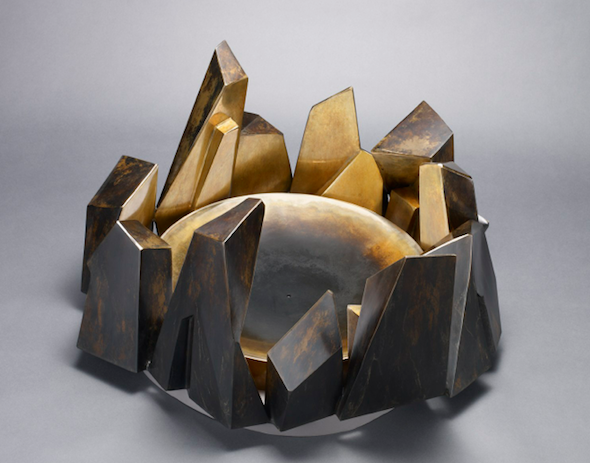 "Jud-Bergeron - ""Fire Pit"" (2012), fabricated bronze, 26 x 26 x 15 inch; courtesy Jud Bergeron"