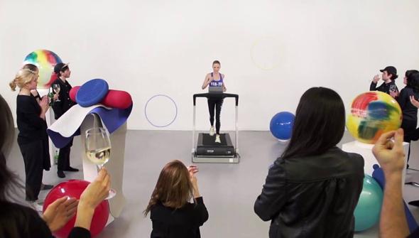 Fitness for Artists TV, leaders shot, courtesy of Helga Wretman