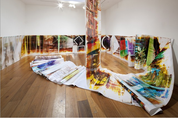 Installation View (2011), works by Mariah Robertson, courtesy of American Contemporary Gallery