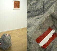 "Tobias Becker ""Felsen"" (2013), concrete and acrylic paint, 40 x 50 x 50 cm; photo: Alex Marcus, courtesy of Galerie Hunchentoot"