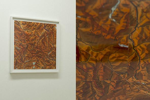 """Tobias Becker """"Gebiet"""" (2013), collage, 40 x 40 cm; photo: Alex Marcus, courtesy Galerie Hunchentoot"""