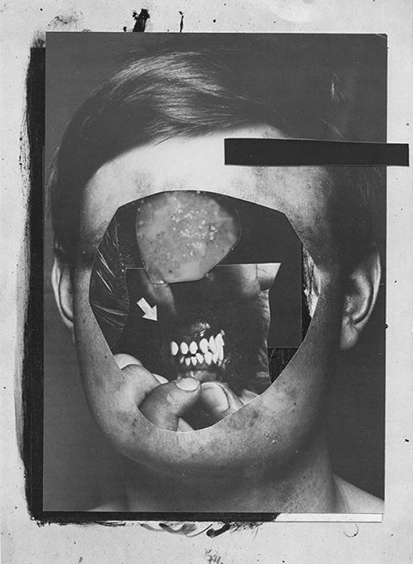 "Ashkan Honarvar - ""Identity Lost 7"" (2013), handmade collage, 16 x 23 cm; copyright of the artist"