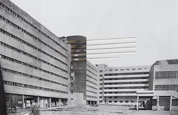 """Berlin Art Link, Openings, Art Work by Sinta Werner, """"Die Operation der Verschiebung (Studentenwohnheim des Textilinstituts)"""", 2013"""