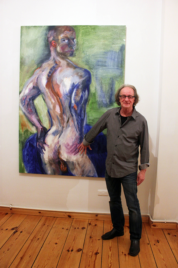 berlin_art_link_16-11-13_wildside_Rainer-Fetting_Russian-Poet_1998_Oil-on-jute_200x140