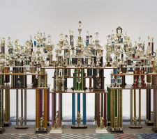 "Berlin Art Link, Absolut, Ry Rocklen, ""Second to None"" (2011), trophies, trophy parts, wood Courtesy the artist"
