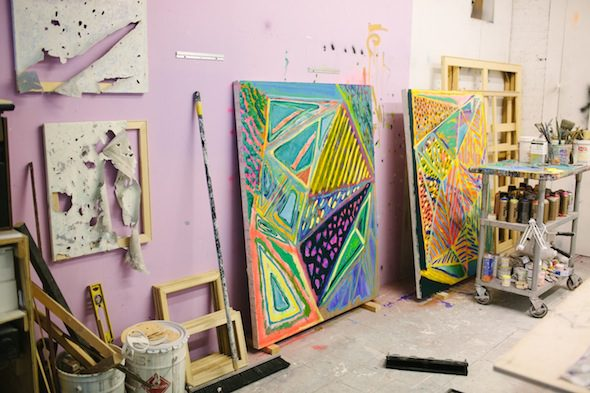 Berlin Art Link studio Visit with Kadar Brock