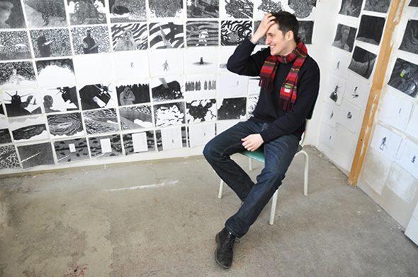 Berlin Art Link Studio Visit with Kevin Lucbert