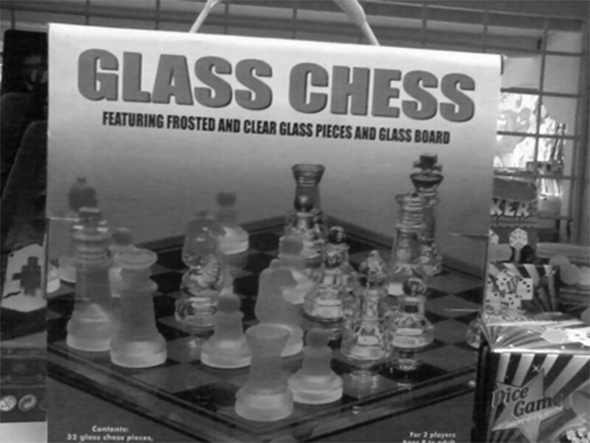 Elegant Glass Chess at The Russian Bookstore, Los Angeles, 2014