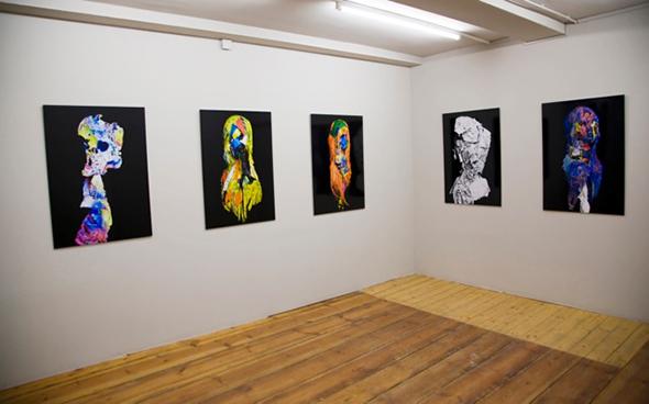 Eva maria Salvador's Kopfe series at ACUD projecktraum 2014