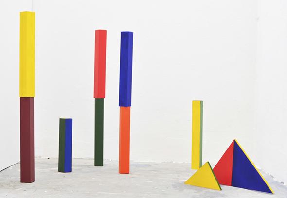 "TingWei Li ""Auf dem Platz"" (2014), acrylic on wood, dimensions variable, photo courtesy of the gallery"